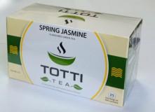 Чай зеленый TOTTI Tea Spring Jasmine (Весенний Жасмин) пакетированный в конвертах, 25 шт.