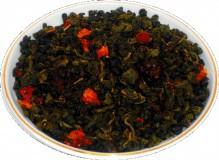 Чай зеленый Земляника со сливками, 500 г, крупнолистовой зеленый ароматизированный чай